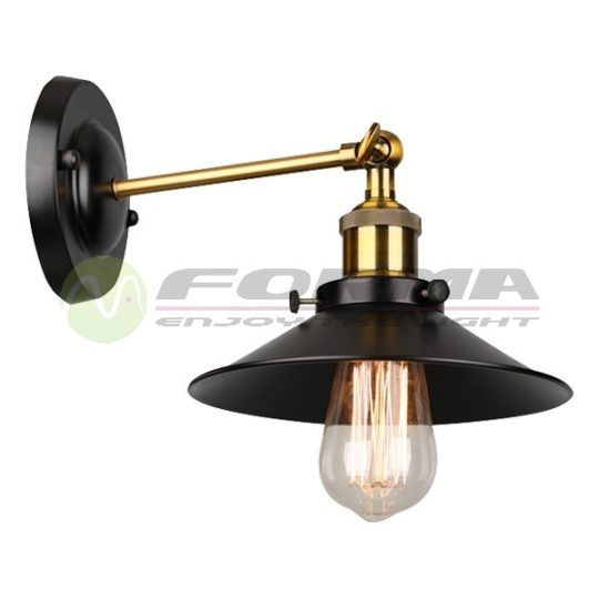 Zidna lampa F7207-1Z crna