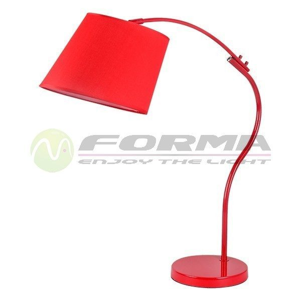 Stona lampa F7106-1T crvena