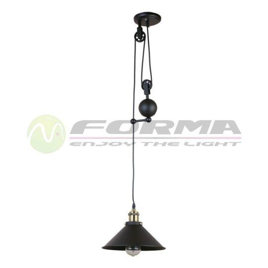 Viseća lampa F7207-1VM crna