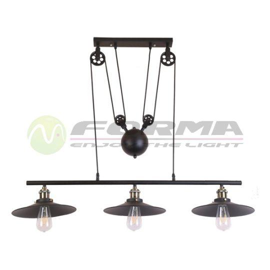 Viseća lampa F7207-3VS crna