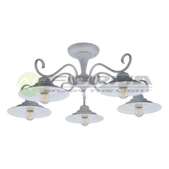 Plafonska lampa F7061-5C belo zlatna